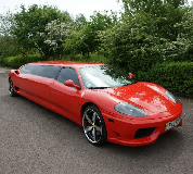 Ferrari Limo in East Anglia and Essex